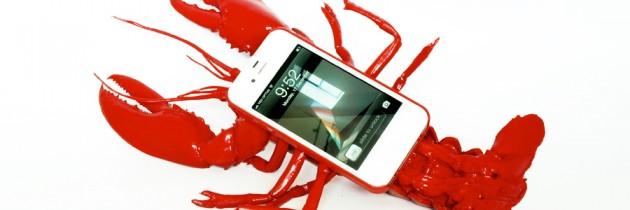 Belachelijke kreeften-hoes voor de iPhone..