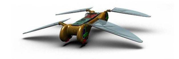Vliegende robot met iPhone te besturen