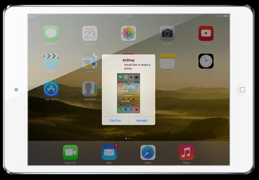 iPadAirDrop