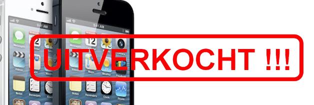 iPhone 5 al uitverkocht voordat hij in de winkel ligt