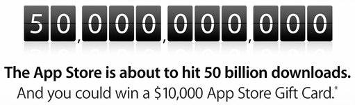 Het aftellen begint: 50 miljard apps gedownload uit de app store