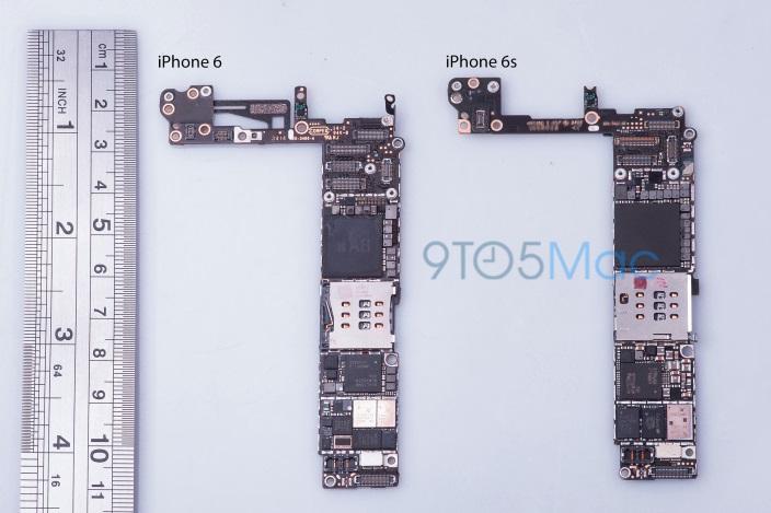 Elektronica circuit iPhone 6S gelekt