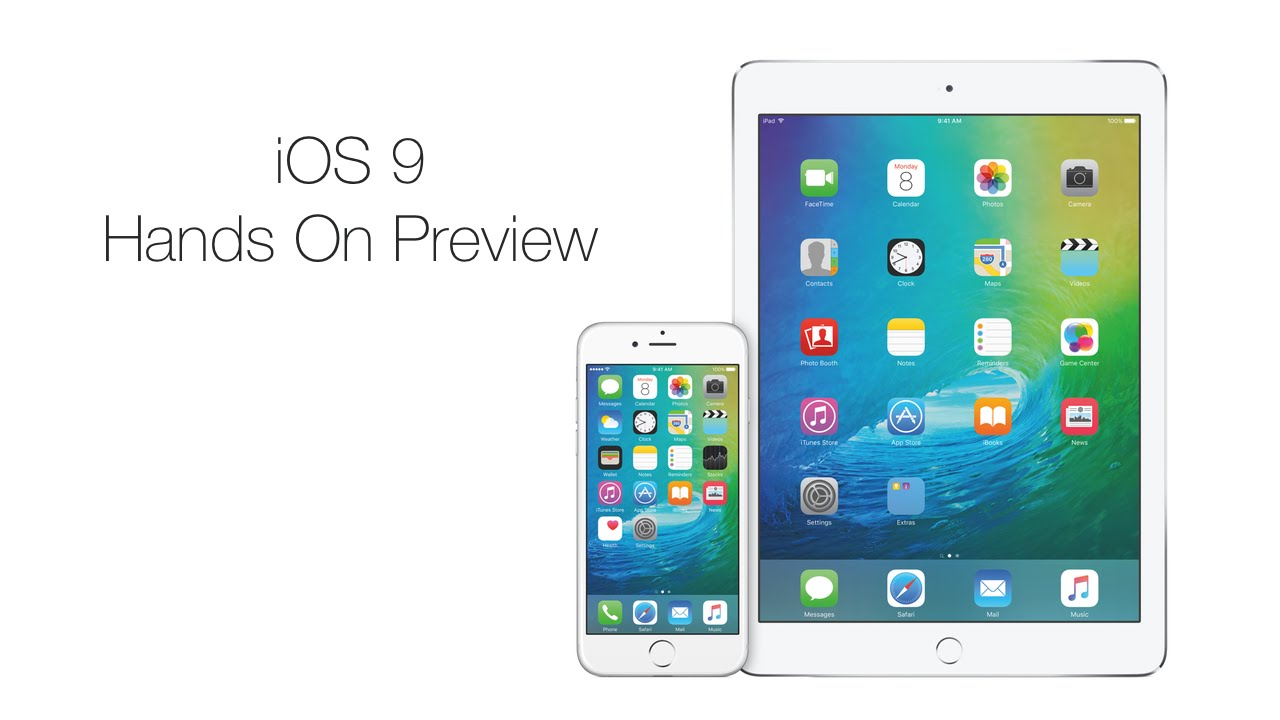 iOS 9 hands-on video