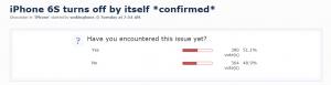 Klein aantal iPhone 6S gebruikers heeft last van 'random shut-downs'
